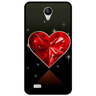 Snooky Printed Diamond Heart Mobile Back Cover For Vivo Y22 - Red