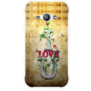 Snooky Printed I Love You Mobile Back Cover For Samsung Galaxy Ace J1 - Brown