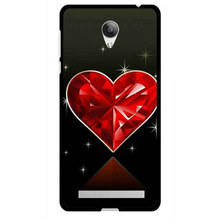 Snooky Printed Diamond Heart Mobile Back Cover For Vivo Y28 - Red