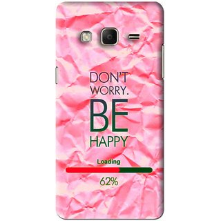 Snooky Printed Be Happy Mobile Back Cover For Samsung Galaxy j3 - Pink