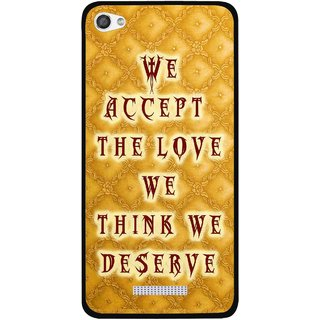 Snooky Printed Accept Love Mobile Back Cover For Micromax Canvas Hue 2 - Yellow