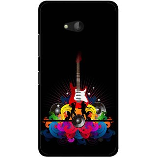 Snooky Printed Rainbow Music Mobile Back Cover For Nokia Lumia 640 - Black