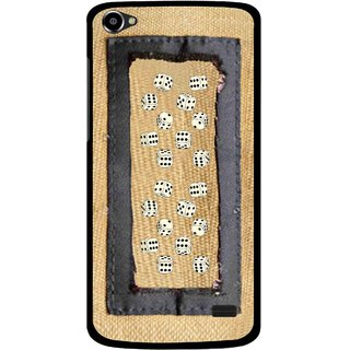 Snooky Printed Dice Mobile Back Cover For Intex Aqua Star 2 HD - Brown