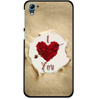 Snooky Printed Love Heart Mobile Back Cover For HTC Desire 826 - Multi