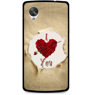 Snooky Printed Love Heart Mobile Back Cover For Lg Google Nexus 5 - Multi
