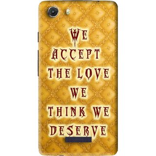 Snooky Printed Accept Love Mobile Back Cover For Micromax Canvas Unite 3 - Yellow