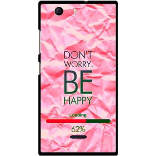 Snooky Printed Be Happy Mobile Back Cover For Micromax Canvas Nitro 2 A311 - Pink