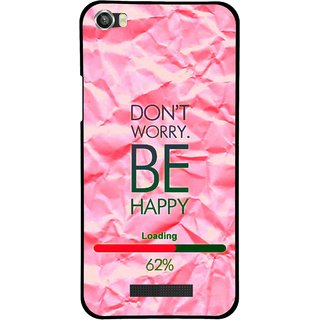 Snooky Printed Be Happy Mobile Back Cover For Lava Iris X8 - Pink