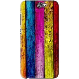Snooky Printed Stylo Stripe Mobile Back Cover For HTC One A9 - Multi