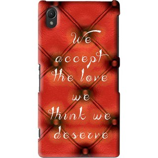 Snooky Printed We Deserve Mobile Back Cover For Sony Xperia Z2 - Red