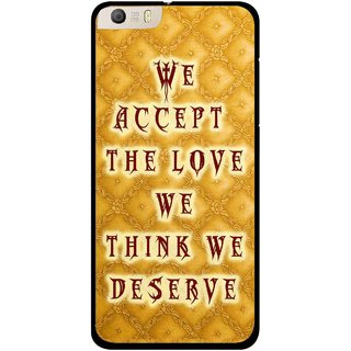 Snooky Printed Accept Love Mobile Back Cover For Micromax Canvas Knight 2 E471 - Yellow