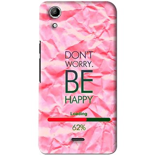 cheap for discount 4a5aa 2b959 Snooky Printed Be Happy Mobile Back Cover For Micromax Canvas Selfie Lens  Q345 - Pink