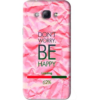 Snooky Printed Be Happy Mobile Back Cover For Samsung Galaxy A8 - Pink