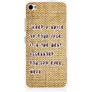 Snooky Printed Keep A Smile Mobile Back Cover For Lenovo s90 - Brown