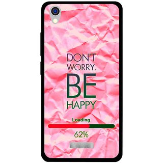 Snooky Printed Be Happy Mobile Back Cover For Lava Iris X9 - Pink