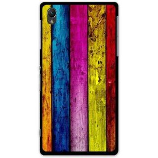 Snooky Printed Stylo Stripe Mobile Back Cover For Sony Xperia Z1 - Multi