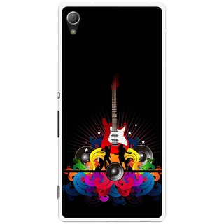 Snooky Printed Rainbow Music Mobile Back Cover For Sony Xperia Z4 - Black