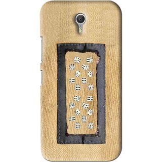 Snooky Printed Dice Mobile Back Cover For Lenovo Zuk Z1 - Brown