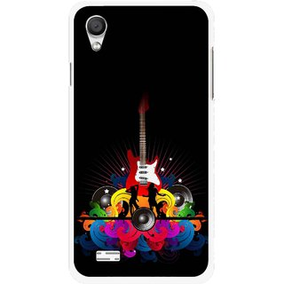 Snooky Printed Rainbow Music Mobile Back Cover For Vivo Y11 - Black