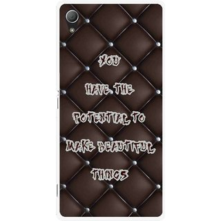 Snooky Printed Beautiful Things Mobile Back Cover For Sony Xperia Z3 - Brown