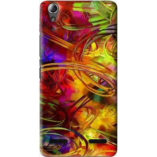 Snooky Printed Vibgyor Mobile Back Cover For Lenovo A6000 - Multi