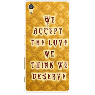 Snooky Printed Accept Love Mobile Back Cover For Sony Xperia Z5 - Yellow
