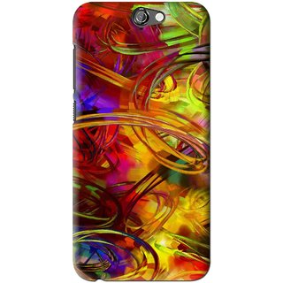 Snooky Printed Vibgyor Mobile Back Cover For HTC One A9 - Multi