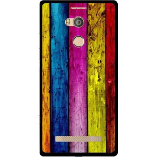 Snooky Printed Stylo Stripe Mobile Back Cover For Gionee Elife E8 - Multi