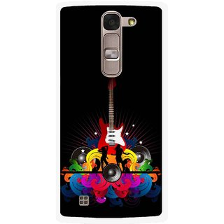 Snooky Printed Rainbow Music Mobile Back Cover For Lg Spirit - Black