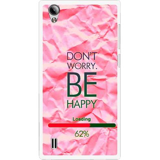 Snooky Printed Be Happy Mobile Back Cover For Vivo Y15 - Pink