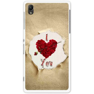 Snooky Printed Love Heart Mobile Back Cover For Sony Xperia Z1 - Multi