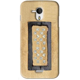 Snooky Printed Dice Mobile Back Cover For Micromax Canvas HD A116 - Brown
