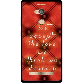 Snooky Printed We Deserve Mobile Back Cover For Gionee Elife E8 - Red
