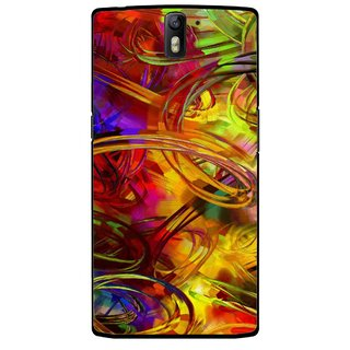 Snooky Printed Vibgyor Mobile Back Cover For OnePlus One - Multi