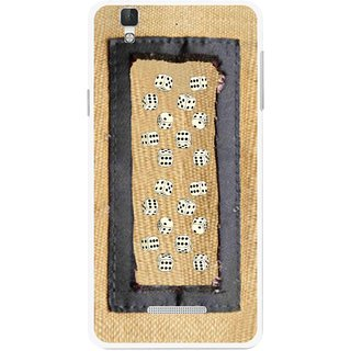 Snooky Printed Dice Mobile Back Cover For Coolpad Dazen F2 - Brown