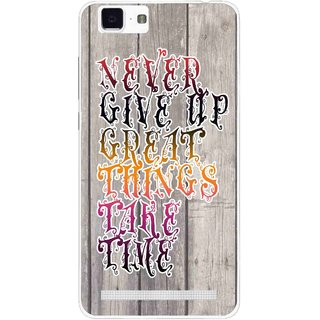 Snooky Printed Never Give Up Mobile Back Cover For Vivo X5 Max - Multi