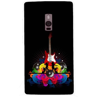 Snooky Printed Rainbow Music Mobile Back Cover For OnePlus 2 - Black
