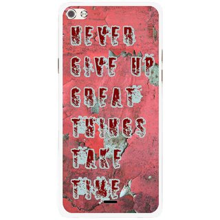 Snooky Printed Never Give Up Mobile Back Cover For Micromax Canvas Sliver 5 Q450 - Red