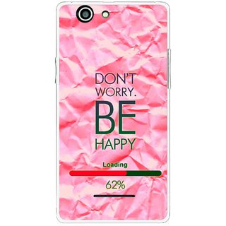 Snooky Printed Be Happy Mobile Back Cover For Xolo A500s - Pink