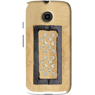 Snooky Printed Dice Mobile Back Cover For Moto E - Brown
