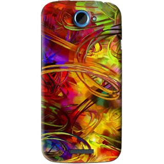 Snooky Printed Vibgyor Mobile Back Cover For HTC One S - Multi