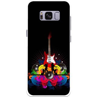 Snooky Printed Rainbow Music Mobile Back Cover For Samsung Galaxy S8 - Black