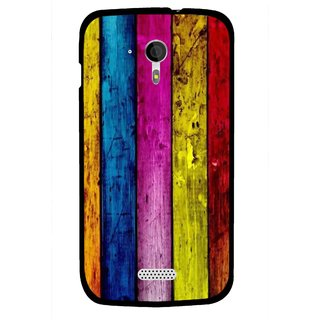 Snooky Printed Stylo Stripe Mobile Back Cover For Micromax A116 - Multi