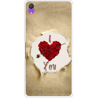 Snooky Printed Love Heart Mobile Back Cover For Sony Xperia Z2 - Multi