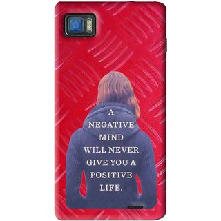 Snooky Printed Be Positive Mobile Back Cover For Lenovo K860 - Red