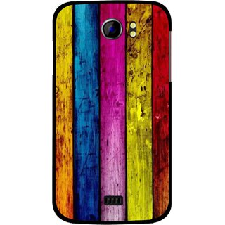 Snooky Printed Stylo Stripe Mobile Back Cover For Micromax Canvas 2 A110 - Multi