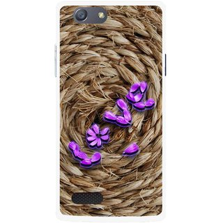 Snooky Printed Love Rove Mobile Back Cover For Oppo Neo 7 - Brown