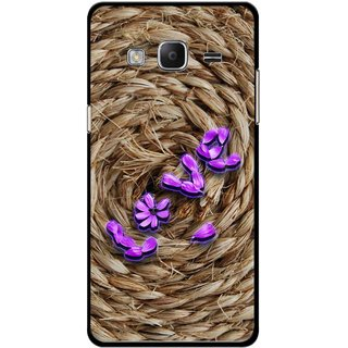 Snooky Printed Love Rove Mobile Back Cover For Samsung Tizen Z3 - Brown