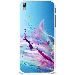 Snooky Printed Blooming Color Mobile Back Cover For HTC Desire 816 - Multi