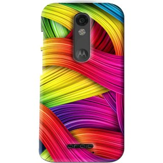 Snooky Printed Color Waves Mobile Back Cover For Moto X Force - Multi